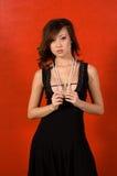 Asiático adulto joven en perlas Foto de archivo