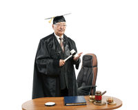 Asiático amadureça o juiz imagens de stock royalty free