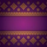 Asiático Art Background, vetor tailandês do teste padrão da arte Fotografia de Stock Royalty Free