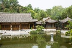 Asiático China, construção antiga, pátio Fotos de Stock Royalty Free