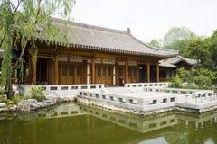 Asiático China, construção antiga, pátio Fotografia de Stock Royalty Free
