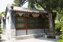 Asiático China, edificio antiguo, patio Imágenes de archivo libres de regalías