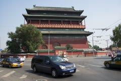 Asiático China, Pekín, arquitectura antigua, la torre del tambor Imagen de archivo libre de regalías