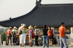 Asiático China, Pekín, edificio histórico, Tiantan, el pasillo del emperador divino Fotografía de archivo