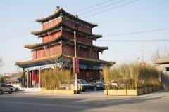 Asiático China, Pekín, edificios antiguos, Teng Longge Imagenes de archivo