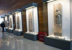 Asiático China, Pekín, Museo Nacional, la sala de exposiciones, arquitectura de piedra de Œmodern del ¼ de Carvingï Foto de archivo libre de regalías