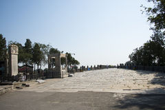 Asiático China, Pekín, puente de Lugou, lugares del interés histórico y belleza escénica Fotografía de archivo