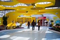 Asiático China, Pekín, sala de exposiciones de ŒThe del ¼ de Carnivalï de la agricultura, disposición del paisaje Fotografía de archivo libre de regalías