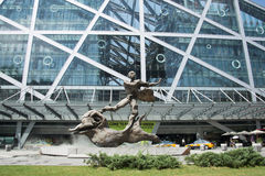 Asiático China, Pequim, arquitetura moderna, grama perfumada do qiaofu Foto de Stock Royalty Free