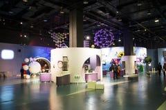 Asiático China, Pequim, ciência chinesa e salão, ciência e tecnologia de exposição de ŒIndoor do ¼ de Museumï da tecnologia, Fotos de Stock Royalty Free
