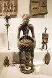 Asiático China, Pequim, Museu Nacional, o salão de exposição, África, cinzeladura de madeira Imagens de Stock Royalty Free