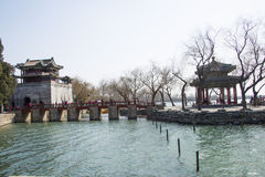 Asiático China, Pequim, o palácio de verão, pavilhão do chun de Zhi Fotos de Stock Royalty Free