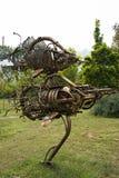 Asiático China, Pequim, parque internacional da escultura, Peixes Imagens de Stock