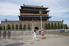 Asiático China, Pequim, porta de Zhengyang, porta, Fotografia de Stock