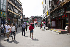 Asiático China, Pequim, rua comercial de Qianmen Dashilan, Imagens de Stock