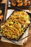 Asiático Chow Mein Noodles fotografía de archivo libre de regalías