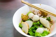 Asiático tailandés de la comida de los tallarines Foto de archivo libre de regalías