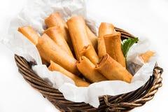 Asiático tradicional Fried Spring Rolls Foto de Stock Royalty Free