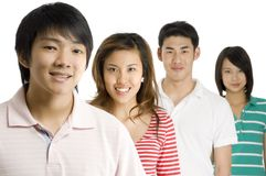 Asiáticos novos Fotografia de Stock