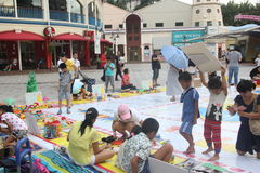 Asia�china�Shenzhen�Children's toys exchange activities in Happy Valley square Stock Images