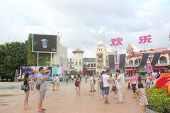 Asia,china,Shenzhen,The exit of happy valley Theme Park Stock Photo
