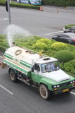 Asia�china�shenzhen�The Sanitation workers are watering Stock Photography