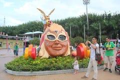 Asiaï ¼ Œchinaï ¼ ŒShenzhenï ¼ Œthe indianina głowy statua w Szczęśliwym dolina kwadracie Obrazy Stock