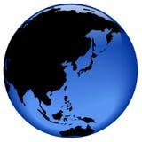 asia österut avlägsen jordklotsikt Arkivfoton