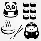 Asia. Few objects on Asian food theme Vector Illustration