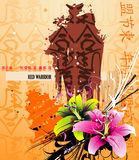 Asia abstract. Composition illustration over a color background Stock Photos
