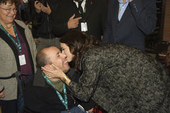 Asia Argento and Fan Stock Photos