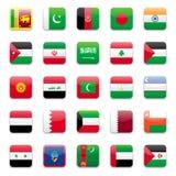 asia b flagga royaltyfri illustrationer