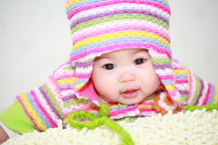Asia baby. Close up of cute asia baby Stock Photography