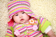 Asia baby. Close up of cute asia baby Royalty Free Stock Photos
