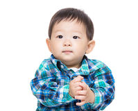 Asia baby boy clapping hand Stock Images