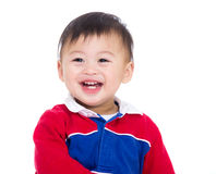 Asia baby boy excited Stock Images