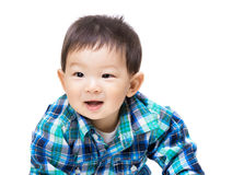 Asia baby boy feeling excited Stock Image