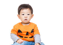 Asia baby boy with halloween party dressing Stock Photos
