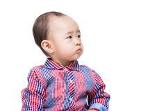 Asia baby boy looking another side Royalty Free Stock Images