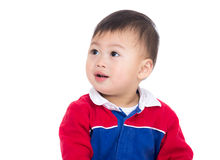 Asia baby boy looking aside Royalty Free Stock Photos