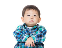 Asia baby boy looking up Royalty Free Stock Image