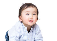 Asia baby boy making funny face Stock Photography