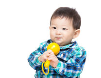 Asia baby boy play toy Stock Photography