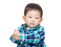 Asia baby boy shake his hand Royalty Free Stock Images
