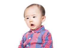 Asia baby boy shocking Stock Photography