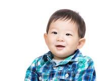 Asia baby boy smile. Asia baby boy isolated on white Royalty Free Stock Photo