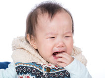 Asia baby crying Royalty Free Stock Images