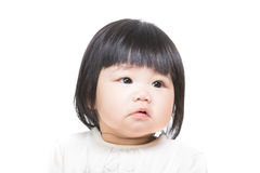 Asia baby feeling upset Stock Photos