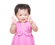 Asia baby girl clapping hand Royalty Free Stock Photography