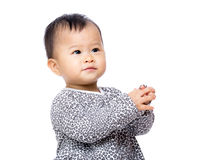 Asia baby girl clapping hand Stock Images